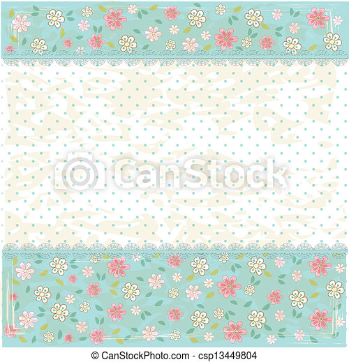 Floral vintage background - csp13449804