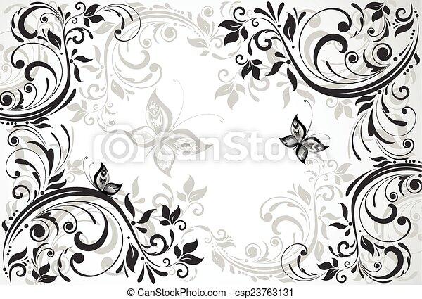 Floral vintage card - csp23763131