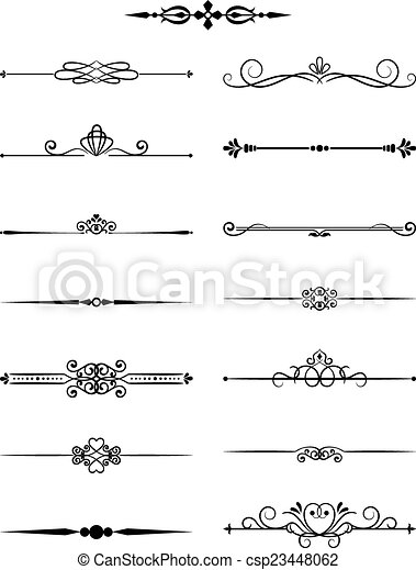 Floral vintage dividers elements for page decor and wedding floral vintage dividers elements for page decor and wedding invitations csp23448062 stopboris Choice Image