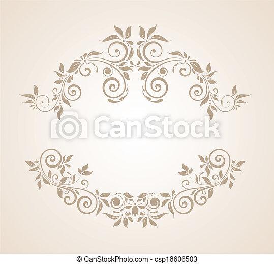 Floral vintage frame - csp18606503