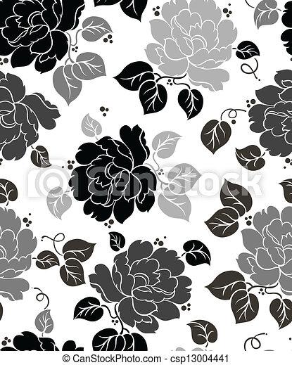 Papel floral sin costura - csp13004441