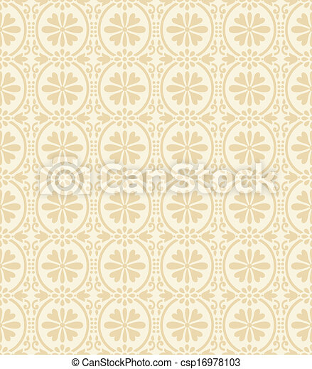 Floral wallpaper - csp16978103