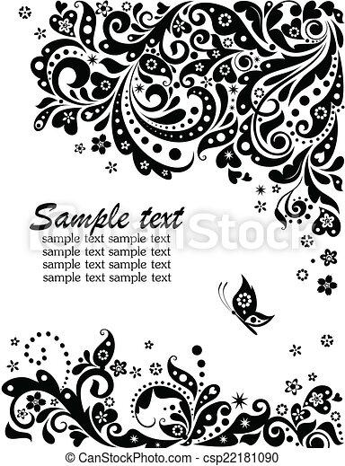 floral, wit), spandoek, (black - csp22181090