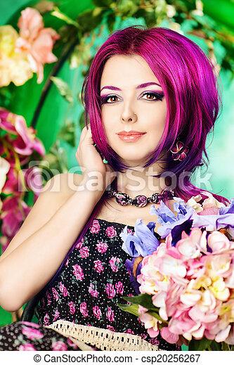 floral woman - csp20256267