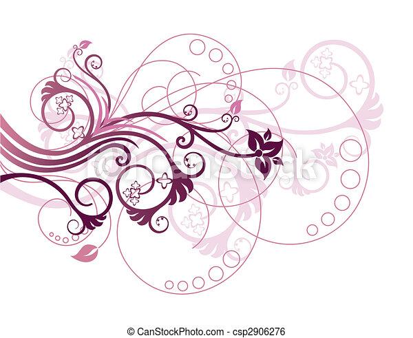 floreale 1, disegnare elemento - csp2906276