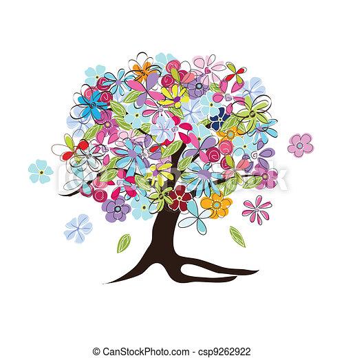 floreale, albero - csp9262922