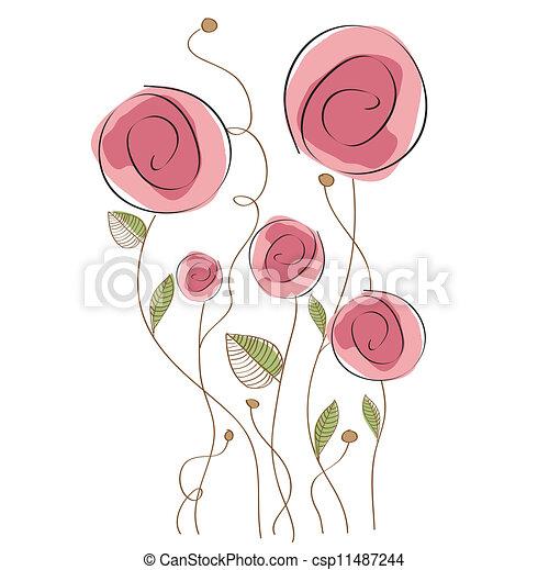 floreale, delicato, fondo - csp11487244