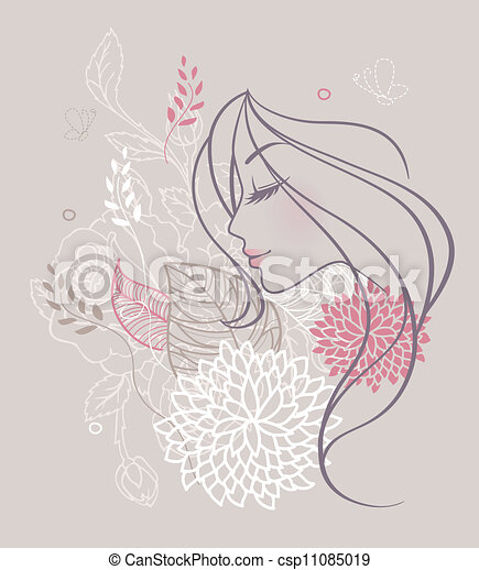 floreale, donna, bellezza - csp11085019