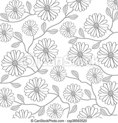 floreale, fondo - csp38563520