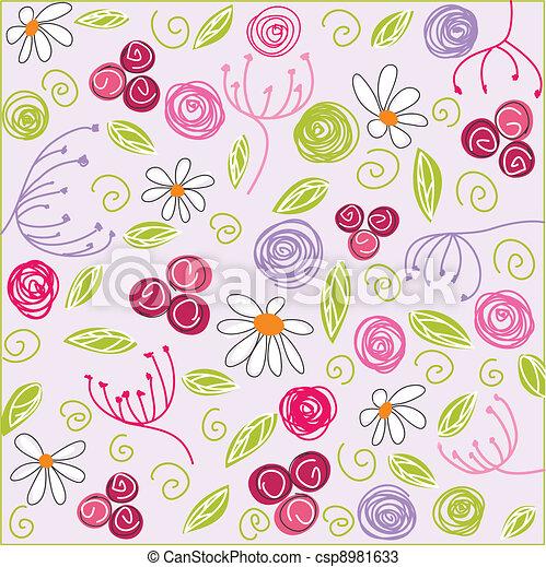 floreale, fondo, pasqua - csp8981633