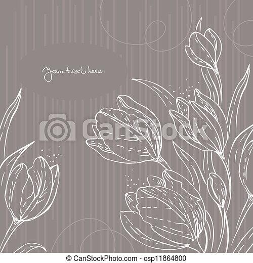 floreale, tulips, fondo - csp11864800