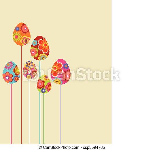 floreale, uova, pasqua - csp5594785