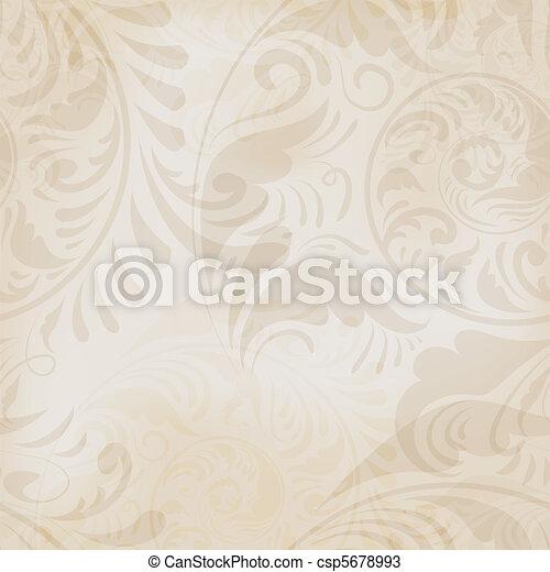 floreale, vendemmia, seamless, fondo - csp5678993