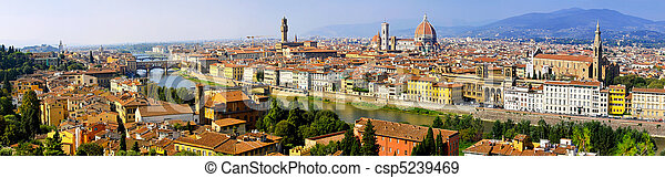 Florence aerial - csp5239469