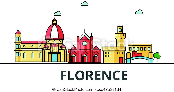 Florence city skyline - csp47523134