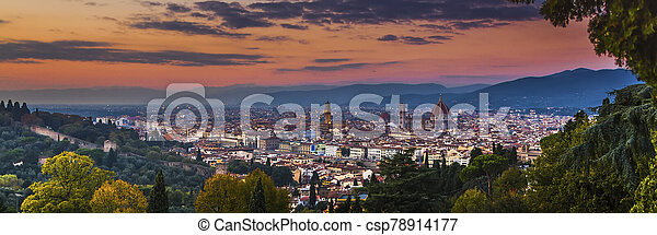 Florence in the setting sun - csp78914177