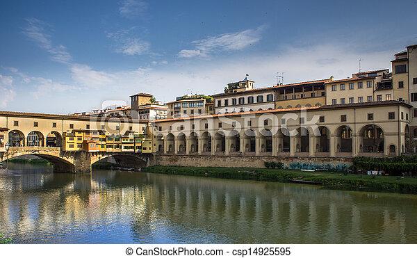 Florence Old Bridge, - csp14925595