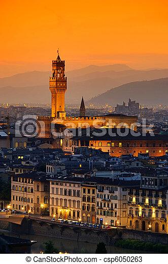 Florence Palazzo Vecchio evening 03 - csp6050263