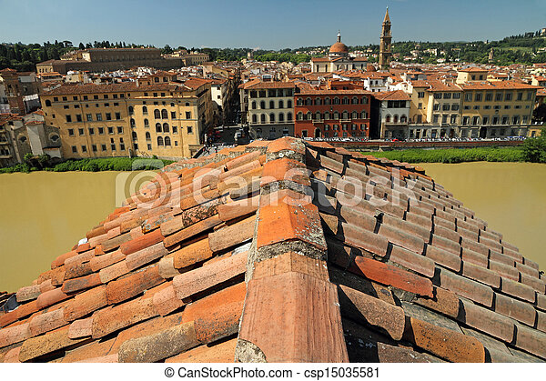 Florence - roof top view - csp15035581