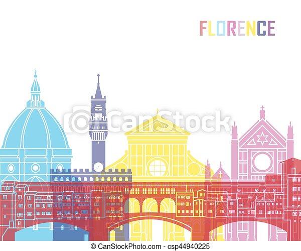 Florence skyline pop - csp44940225