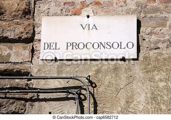 Florence street - csp6582712
