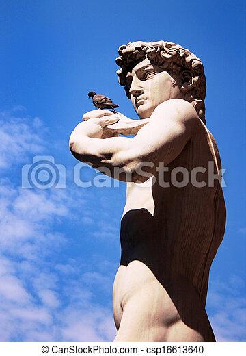 Escultura de David de Miguel Ángel, Florencia, Italia - csp16613640
