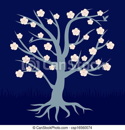 flores, árvore - csp16560074