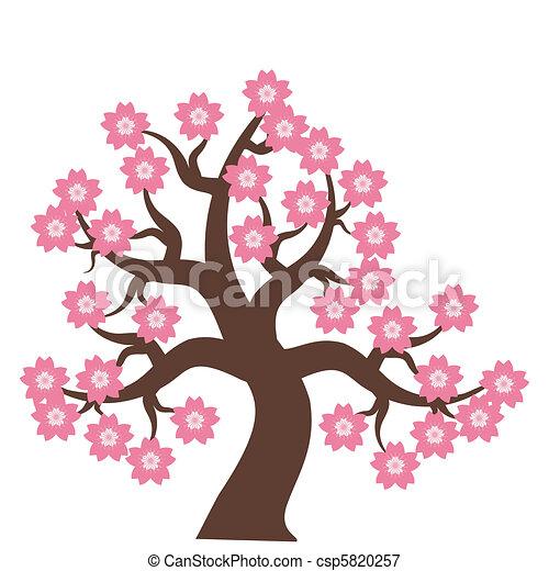 flores, árvore - csp5820257
