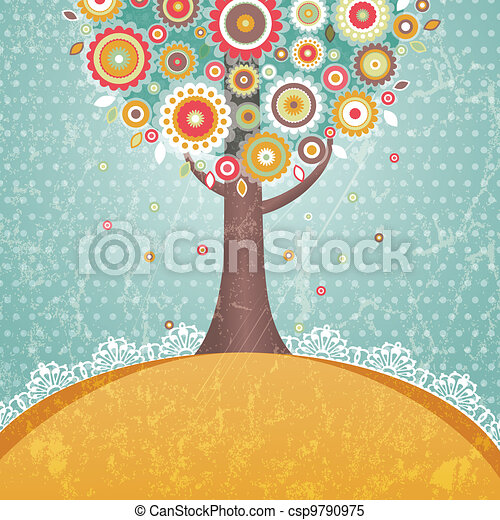 flores, árvore - csp9790975