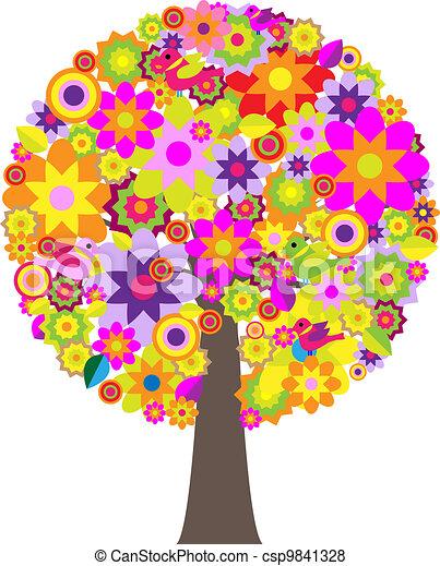 flores, árvore - csp9841328