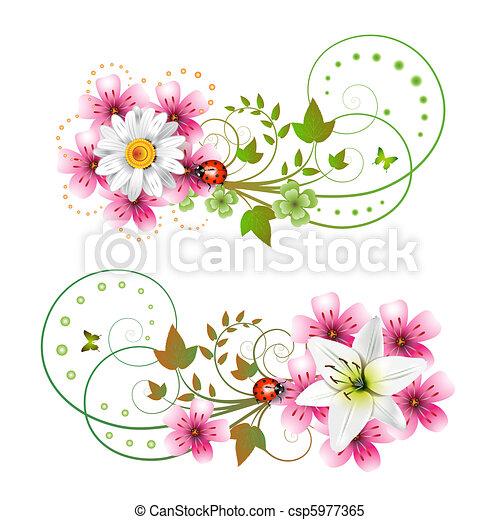 Borboletas Flores Arranjo