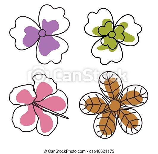 Flores Arte Dibujo Flores Vector Arte Dibujo Ilustracion
