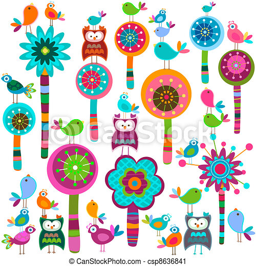 Flores Whimsy - csp8636841