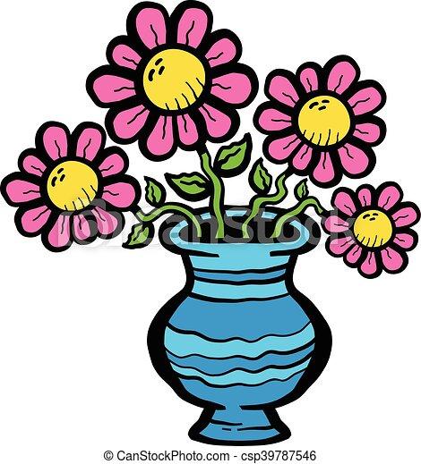 gr u00e1ficos vectoriales eps de flores  caricatura  florero Flower Pot Clip Art Cartoon Clip Art Flower Vase