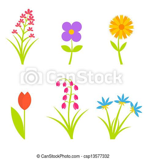 Coleccion de flores - csp13577332