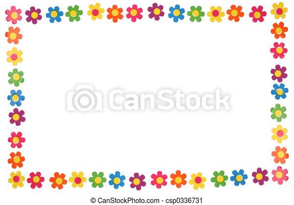 flores coloridos quadro flor borda coloridos