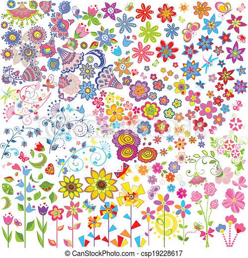 flores, conjunto - csp19228617