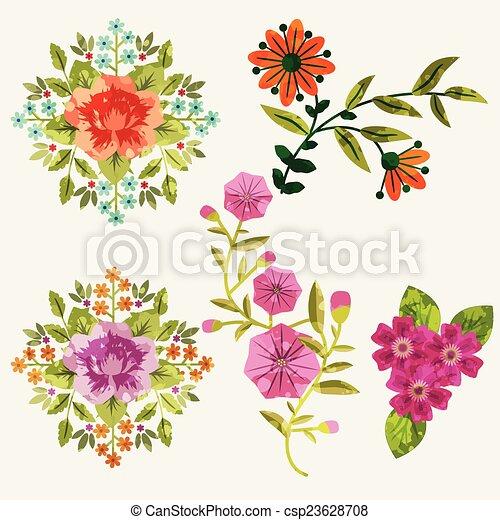 flores, conjunto - csp23628708