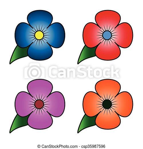 flores, conjunto - csp35987596