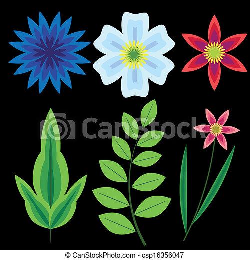 flores, conjunto - csp16356047