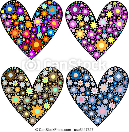 flores, corações - csp3447827