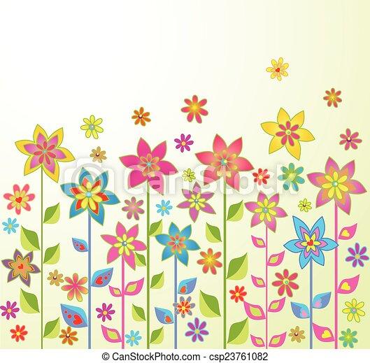 Flores de primavera - csp23761082