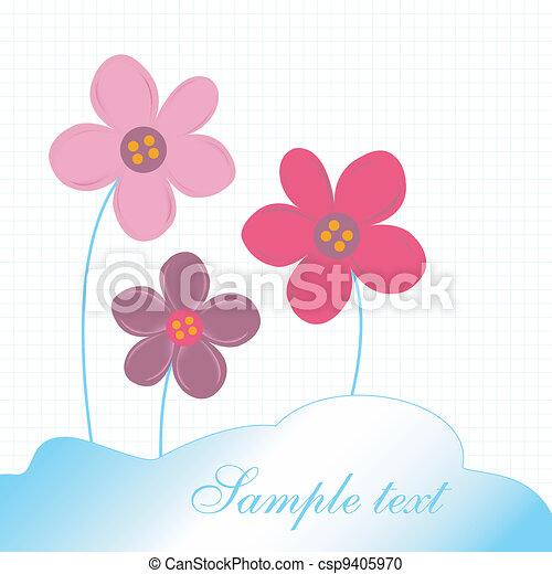 Flores Delicado Cartao