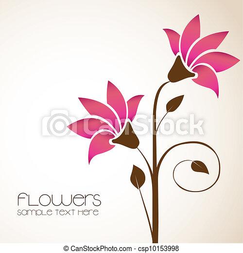 Flores Delicado Simples Ilustracao Flores Vetorial Delicado