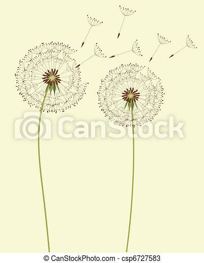 Flores de diente de león - csp6727583