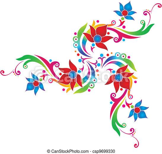 Flores de diseño - csp9699330