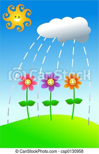 Flores felices - csp0130958