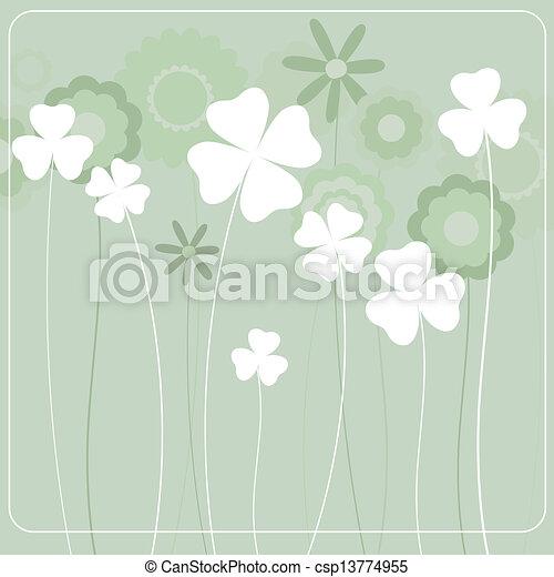flores, fundo - csp13774955