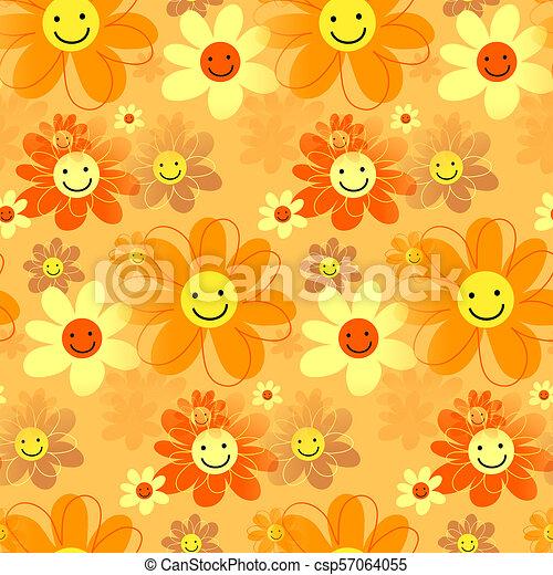Feliz flores hipster - csp57064055