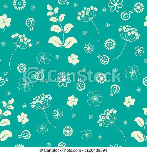 Flores de jardín sin fondo. - csp6409594